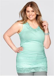Top long extensible, bpc bonprix collection, menthe clair