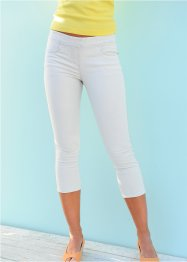 Pantalon extensible 3/4, bpc bonprix collection, blanc
