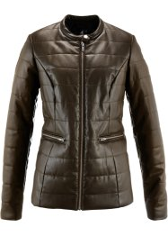 Veste synthétique imitation cuir, bpc bonprix collection, marron olive