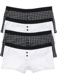 Lot de 4 boxers femme, bpc bonprix collection, noir/blanc imprimé