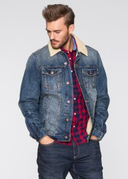 Blouson en jean thermo Slim Fit, RAINBOW, bleu