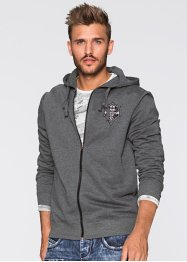 Gilet sweatshirt Slim Fit, RAINBOW, anthracite chiné