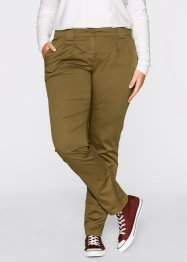 Pantalon chino extensible, bpc bonprix collection, vert gui