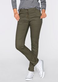 Pantalon cargo chino, bpc bonprix collection, olive foncé