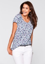 T-shirt encolure Carmen, bpc bonprix collection, taupe