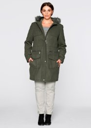 Manteau court aspect laine, bpc bonprix collection, olive foncé