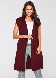 Gilet long sans manches, bpc bonprix collection, bordeaux
