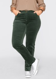Pantalon extensible en velours côtelé, bpc bonprix collection, vert militaire