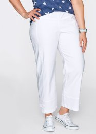 Pantalon confort 7/8 en bengaline, bpc bonprix collection, blanc