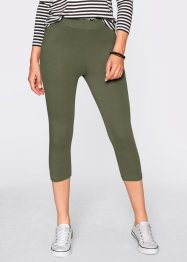Lot de 2 leggings corsaire extensibles, bpc bonprix collection, olive + noir