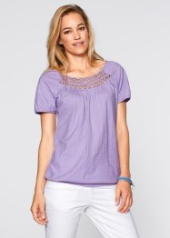 T-shirt manches courtes, bpc bonprix collection, mauve