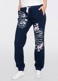 Pantalon sweat, bpc bonprix collection, bleu foncé imprimé