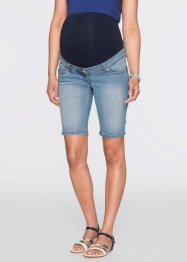 Short en jean de grossesse, bpc bonprix collection, medium bleu bleached