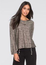 Pull brillant, BODYFLIRT, gris chiné