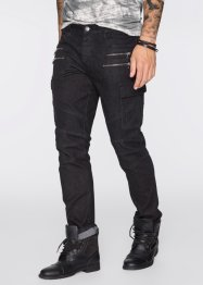 Jean super stretch Slim Fit Straight, RAINBOW, noir denim