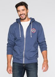 Gilet sweat imprimé dos Regular Fit, John Baner JEANSWEAR, indigo