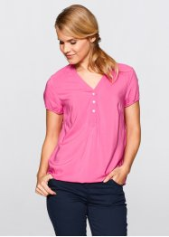 Blouse manches courtes, bpc bonprix collection, rose flamant
