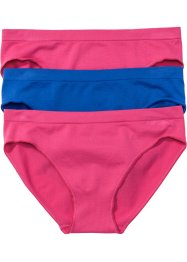 Lot de 3 mini slips seamless, bpc bonprix collection, bleu/fuchsia
