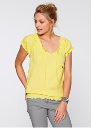 T-shirt manches courtes, bpc bonprix collection, citron clair