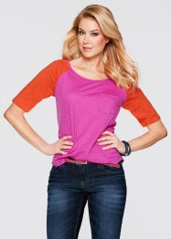 T-shirt demi-manches, bpc bonprix collection, orange sanguine/fuchsia