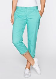 Pantalon extensible 3/4 chino teneur en Lycra, bpc bonprix collection, vert pacifique