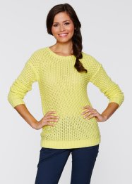 Pull, bpc bonprix collection, citron clair