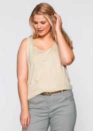 Top en jersey, bpc bonprix collection, beige galet