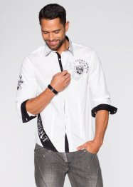 Chemise manches longues Slim Fit, RAINBOW, blanc