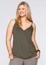 Top, bpc bonprix collection, olive foncé