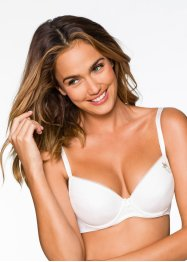 Lot de 2 soutiens-gorge push-up, bpc bonprix collection, noir + blanc