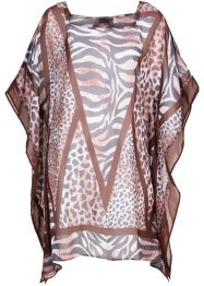 Tunique de plage, bpc selection, marron/gris