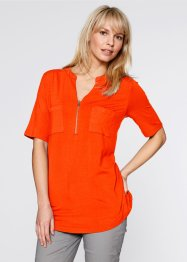 T-shirt mi-manches, bpc bonprix collection, orange sanguine