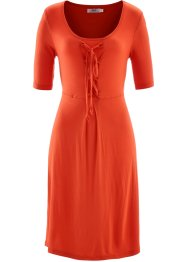 Robe mi-manches, bpc bonprix collection, orange sanguine