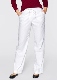 Pantalon lin, bpc bonprix collection, blanc