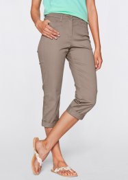 Pantalon extensible amincissant 7/8, bpc bonprix collection, taupe