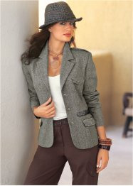 Blazer en tweed, bpc selection, noir chiné