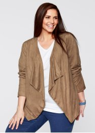 Blazer extensible, synthétique imitation daim, bpc bonprix collection, camel