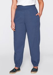 Pantalon sarouel froissé, bpc bonprix collection, indigo