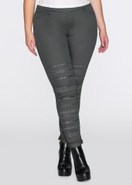 Pantalon tregging avec rivets, RAINBOW, anthracite