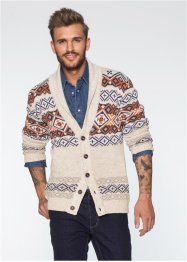 Gilet en maille Slim Fit, RAINBOW, beige chiné
