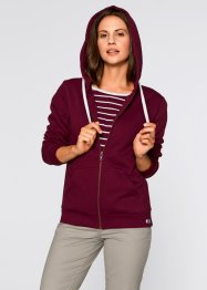 Gilet sweatshirt, bpc bonprix collection, rouge érable