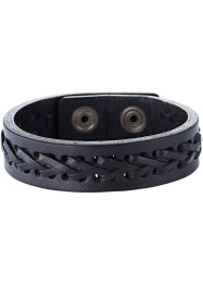 "Bracelet en cuir ""Stockholm"", bpc bonprix collection, noir"