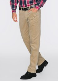 Pantalon en velours côtelé extensible thermo, bpc bonprix collection, beige