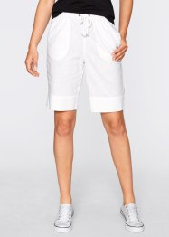 Bermuda confort lin, bpc bonprix collection, blanc