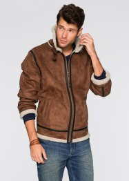 Blouson imitation peau Regular Fit, John Baner JEANSWEAR, marron