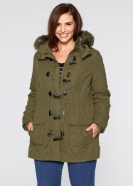Parka, bpc bonprix collection, vert kaki
