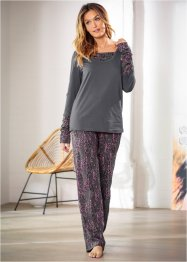 Pyjama, bpc bonprix collection, gris ardoise imprimé