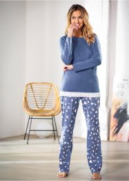 Pyjama, bpc bonprix collection, indigo chiné/imprimé