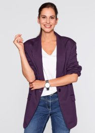 Blazer long ample, manches longues, bpc bonprix collection, myrtille