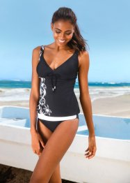 Tankini (Ens. 2 pces.), bpc bonprix collection, noir/gris
